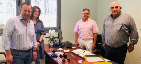 Τη Διεύθυνση Αγροτικής Οικονομίας Λάρισας επισκέφθηκαν Κόκκαλης και Παπαδόπουλος