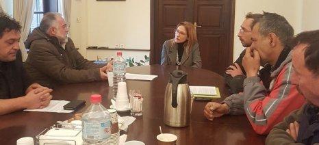 Συνάντηση συντονίστριας Αποκεντρωμένης Διοίκησης Κρήτης με εκπροσώπους των αγροτών