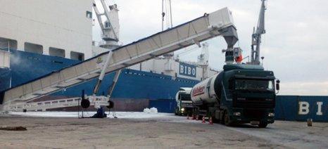 Μέσω Βόλου εισάγει 20.000 τόνους ζάχαρη η ΕΒΖ, μόνο σε μία εβδομάδα