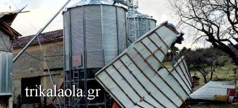 Ανεμοστρόβιλος «χτύπησε» κτηνοτροφική μονάδα στα Τρίκαλα