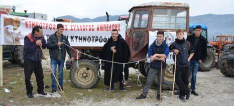 Έκλεισαν για τρεις ώρες χθες οι κτηνοτρόφοι τη διάβαση της Μελούνας μεταξύ Τυρνάβου και Ελασσόνας