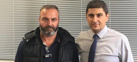 Τον συντονιστή της Ομοσπονδίας Αγροτικών Συλλόγων Κρήτης συνάντησε ο Αυγενάκης