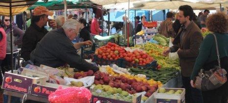 Παγώνουν μέχρι νεωτέρας οι νέες άδειες για επαγγελματίες στις λαϊκές αγορές - κανονικά οι άδειες στους παραγωγούς