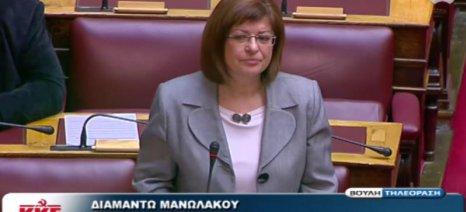 Ερώτηση της Μανωλάκου για τα προβλήματα που προέκυψαν στα δικαιώματα των ενισχύσεων