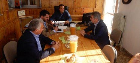 Τον Α.Σ. Μεσσαράς επισκέφθηκε ο Κασίμης, όπου έγινε συζήτηση για τα ευρωπαϊκά προγράμματα