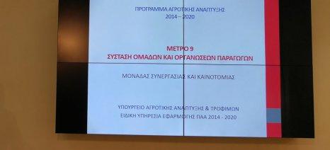 Συνολικά 206 προτάσεις για ενίσχυση της ίδρυσης ομάδας παραγωγών κατατέθηκαν στο ΥΠΑΑΤ