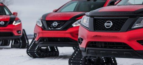 "H Nissan αποκάλυψε τρεις πρωτότυπες χειμερινές πολεμικές ""μηχανές"" στο Σαλόνι Αυτοκινήτου του Σικάγο"