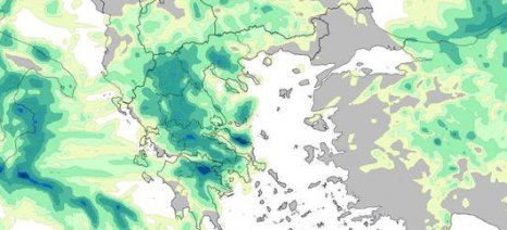 """Χαλαζόπτωση την Τρίτη κυρίως σε περιοχές της Πελοποννήσου φέρνει ο """"Αντίνοος"""""""