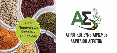 Συνάντηση στις 15 Δεκεμβρίου της Ομάδας Παραγωγών οσπρίων της Λάρισας για τη νέα καλλιεργητική χρονιά