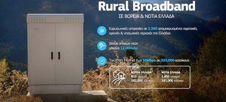 Ολοκληρώθηκε από τον ΟΤΕ δίκτυο οπτικών ινών 12.000 χλμ. σε απομακρυσμένες περιοχές