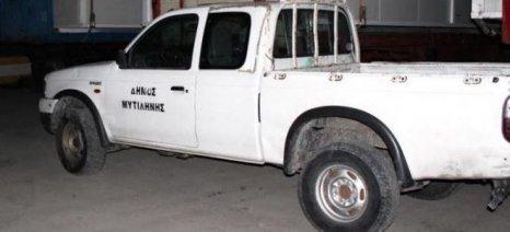 Με αυτοκίνητο του δήμου Λέσβου έκλεψαν ελαιόδιχτα στην Αγιάσο
