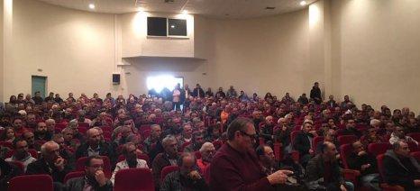Μεγάλη η συμμετοχή στην πανελλαδική σύσκεψη των αγροτών στη Νίκαια