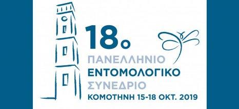 Στις 15 με 18 Οκτωβρίου θα πραγματοποιηθεί το 18ο Πανελλήνιο Εντομολογικό Συνέδριο