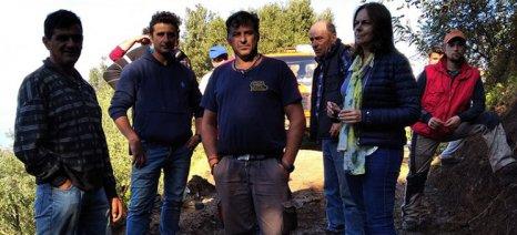 Επίσκεψη Παπανάτσιου στις πληγείσες από την κακοκαιρία περιοχές του Πηλίου