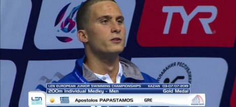 Παγκόσμιο ρεκόρ από τον Παπαστάμου στην κολύμβηση στη Βουδαπέστη