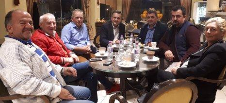 Με την Πανελλήνια Ένωση Κτηνοτρόφων συναντήθηκε ο Κασαπίδης