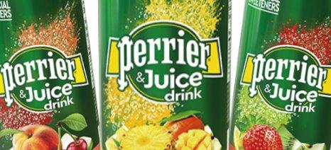 Το ανθρακούχο νερό Perrier κυκλοφορεί τώρα και με χυμό