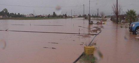 Άμεσα ξεκινούν αναγγελίες ζημιών στις πληγείσες από την κακοκαιρία περιοχές
