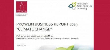 Το 73% των επαγγελματιών του παγκόσμιου αμπελοοινικού τομέα προβλέπουν άμεσες συνέπειες από την κλιματική αλλαγή στις επιχειρήσεις τους