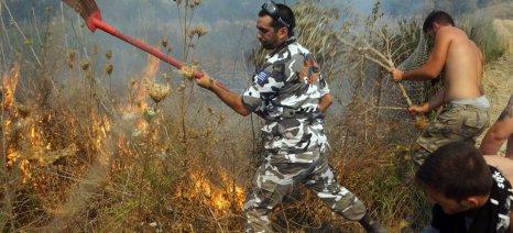 Από καύση υπολειμμάτων καλλιεργειών προκλήθηκε η φωτιά στην Κασσάνδρα