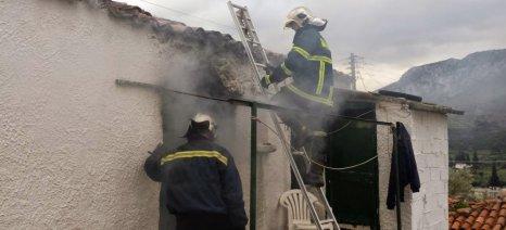Στεγαστικό βοήθημα για ζημιές σε αγροτικές αποθήκες και στάβλους από την πυρκαγιά στην Λακωνία