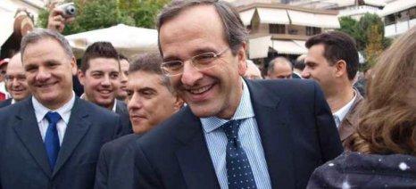 Από τη Λάρισα ξεκίνησε η προεκλογική εκστρατεία του Αντώνη Σαμαρά