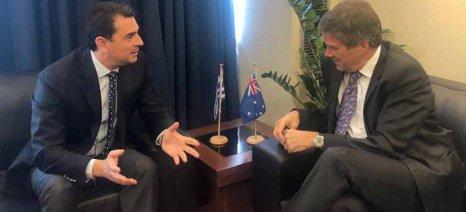 Η Φέτα στο επίκεντρο της συνάντησης του Κώστα Σκρέκα με τον Αυστραλό Επιτετραμμένο Jon Philip