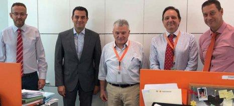 Επίσκεψη Σκρέκα στη Συνεταιριστική Τράπεζα Θεσσαλίας