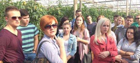 Μαθητές από γεωργικό σχολείο της Σλοβακίας επισκέπτονται την Τριφυλία