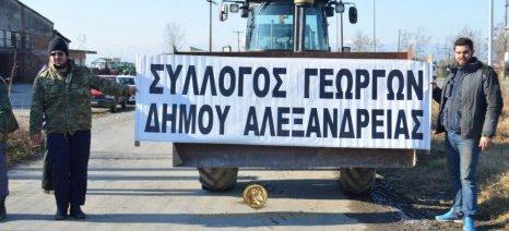 Πορεία μέσα από το κέντρο της Αλεξάνδρειας σε λίγη ώρα από τους αγρότες της Ημαθίας