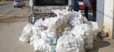 Συλλογή κενών συσκευασιών φυτοπροστατευτικών προϊόντων την Τετάρτη από το δήμο Μουζακίου