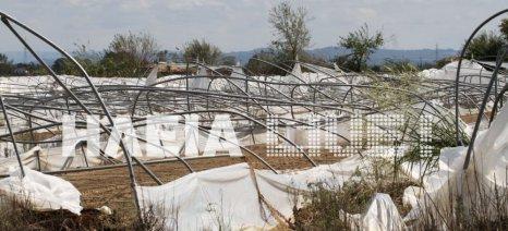 Αποζημιώσεις για πλημμύρες - ανεμοστρόβιλο στην Ηλεία