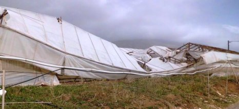 Καταστροφές από ανεμοστρόβιλο στην Ηλεία σε χωράφια και θερμοκήπια