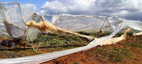 Ο δεύτερος ανεμοστρόβιλος μέσα σε ένα μήνα στη βόρεια Ηλεία προκαλεί ανησυχία στους παραγωγούς