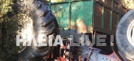 Ηλεία: Νεκρός 71χρονος που καταπλακώθηκε από τρακτέρ