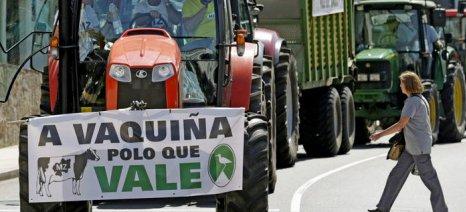 Χιλιάδες γαλακτοπαραγωγοί στους δρόμους του Σαντιάγο ντε Κομποστέλα