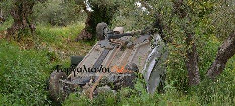 Αυτοκίνητο διέσχισε 100 μέτρα μέσα σε ελαιώνα, αναποδογύρισε… αλλά ο οδηγός δεν έπαθε το παραμικρό!