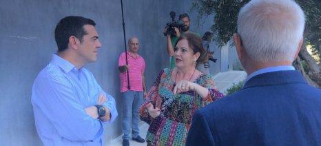 Τσίπρας στην Apivita: Επεξεργαζόμαστε πρωτοβουλίες για τη στοχευμένη διαφοροποίηση της αγροτικής παραγωγής