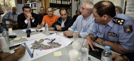 Υπουργείο και ΕΛΓΑ αναλαμβάνουν άμεσα την καταγραφή αναγκών και ζημιών στη Θάσο, ανακοίνωσε ο Τσίπρας