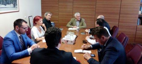 Συνάντηση Τσιρώνη με τον υπουργό Περιβάλλοντος και αντιπροσωπεία της Σερβίας