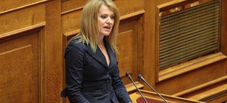 Με ερώτησή της η Θεοδώρα Τζάκρη καταγγέλει ότι δεν έχει ξεκινήσει ακόμα το πρόγραμμα εναέριας αντιχαλαζικής προστασίας