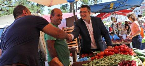 Ξεκίνησε τη λειτουργία της η πρότυπη λαϊκή αγορά Θεσσαλονίκης