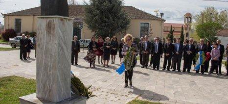 Τίμησαν τον αγωνιστή του αγροτικού κινήματος Ευάγγελο Κομισόπουλο στη Βαμβακού Φαρσάλων
