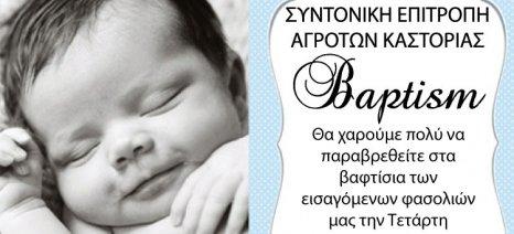 Πρόσκληση σε βαφτίσια... φασολιών σήμερα στις 12 το μεσημέρι από τους αγρότες της Καστοριάς
