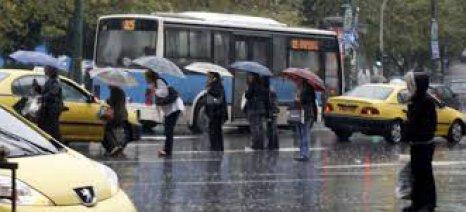 Χάος στους δρόμους λόγω βροχής
