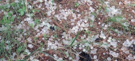 Χαλαζόπτωση σε ορεινά χωριά του Δήμου Μουζακίου
